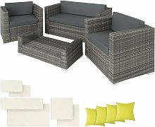 Rattan garden furniture set Munich - garden sofa,