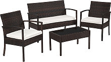 Rattan garden furniture set Sparta 3+1 -