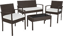 Rattan garden furniture set Sparta 3+1 - brown