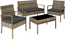 Rattan garden furniture set Sparta 3+1 - nature