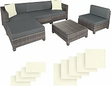 Rattan garden furniture set with aluminium frame -