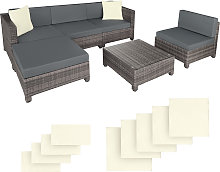 Rattan garden furniture set with aluminium frame -