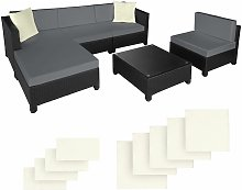 Rattan garden furniture set with aluminium frame,