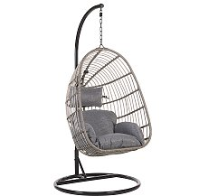 Rattan Hanging Chair with Stand Grey CASOLI