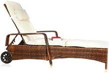 Rattan Lounge adjustable Sun lounger Polyrattan
