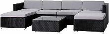 Rattan Outdoor Garden Furniture Set 6 Seater Sofa