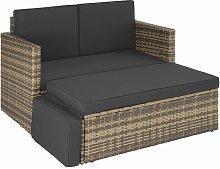 Rattan sofa Corfu - garden sofa, outdoor sofa,