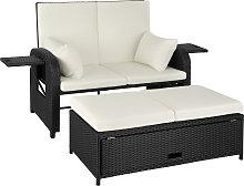 Rattan sofa Crete - black