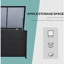 Rattan Storage Box Wicker Cabinet Chest Garden -