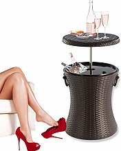 Rattan Style Outdoor Cool Bar Ice Cooler Table
