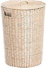 Rattan washing basket, storage basket cover, used