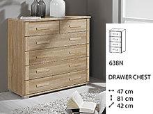Rauch Rivera Bedside Cabinet - Five Drawer - 66K1
