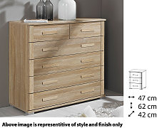 Rauch Rivera Bedside Cabinet - Three Drawer - 64N6