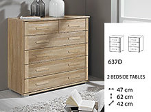 Rauch Rivera FLATPACKED Bedside Cabinet - Three