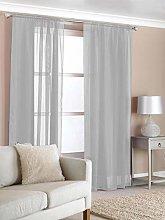 RAVALI Contemporary Plain Grey Easy Hang Slot Top