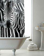 RAVALI Polyester Fabric Black White Zebra Design