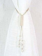 RAVALI Tsar Elegant Crystal Beaded Rope Tie Backs