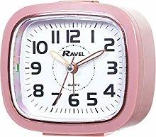 Ravel - Bexley Rose Gold Trim Alarm Clock - Pink