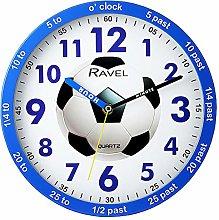Ravel Blue Childrens Football Time Teacher Quartz