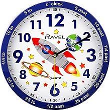 Ravel Children's 25cm Time Teacher Wall Clock