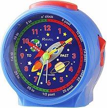 Ravel Children's Bedside Alarm Clock - Blue