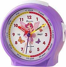 Ravel Children's Bedside Alarm Clock - Purple