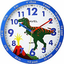 Ravel Childrens Dinosaur Time Teacher Quartz Wall