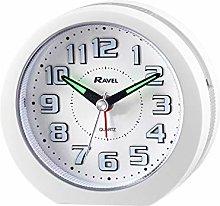 Ravel - Ealing LED Light Up Alarm Clock - White