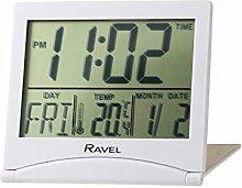 Ravel - Highley Digital Travel Flip Alarm Clock -