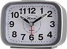 Ravel - Kingston Bold Bell Alarm Clock - Silver