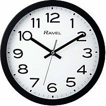Ravel Modern 25cm Wall Clock - Black