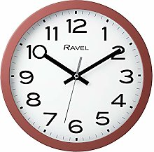 Ravel Modern 25cm Wall Clock - Coral Pink