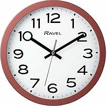 Ravel Modern 25cm Wall Clock - Coral Pink