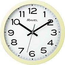 Ravel Modern 25cm Wall Clock - Cream