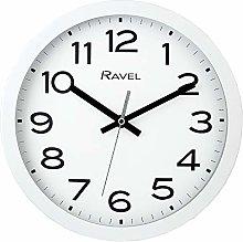 Ravel Modern 25cm Wall Clock - White