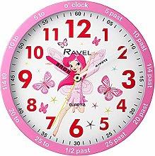Ravel Pink Childrens Fairy Time Teacher Quartz