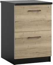 Raven 2 Drawer Filing Cabinet (Rustic Oak)