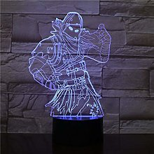 Raven Skins Game Table Desk Lamp Touch Switch 3D