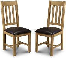 Raven Wooden Dining Chairs In Waxed Oak In A Pair