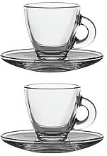 Ravenhead Entertain Glass Espresso Cup And Saucer