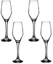 Ravenhead Majestic Set Of 4 Flute Glasses