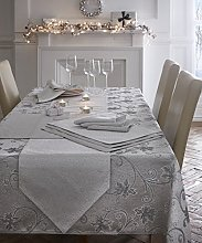 "Ravina - Silver - Tablecloth - 70"" Round"