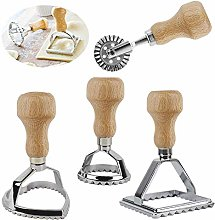 Ravioli Stamp Set, 4PCS Round Square Heart Shape