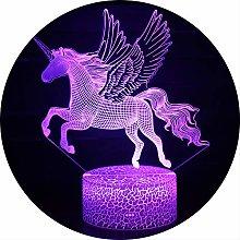 Ray-Velocity 3D Unicorn Optical Illusion Night