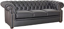 Rayle Leather 3 Seater Chesterfield Sofa Rosalind