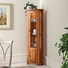 Rayleigh Solid Oak Corner Display Cabinet Gracie