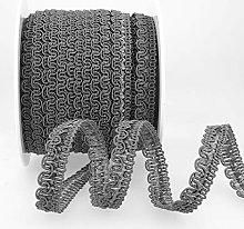 Rayon Braid Trim Grey - per metre