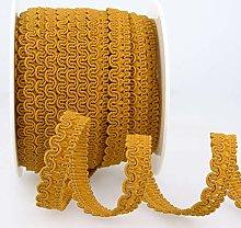 Rayon Braid Trim Yellow, Gold - per metre