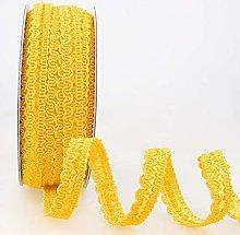 Rayon Braid Trim Yellow - per metre