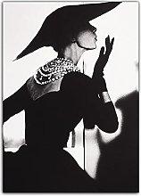 RCANLGZ Poster Black And White Modern Fashion